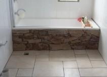Stone bath feature wall