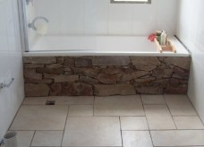 Stone bath feature wall