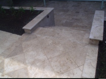 Travertine Step landing