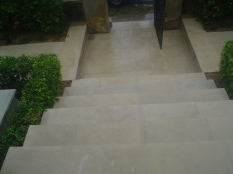 Pure sandstone steps