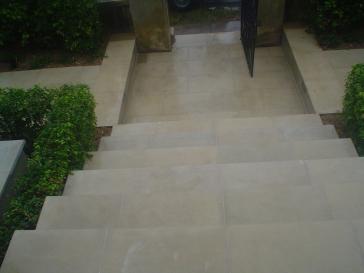 Pure sandstone steps