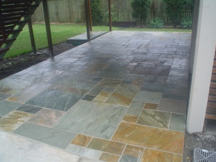 Silt stone patio