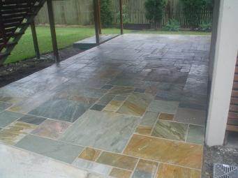 Silt stone patio