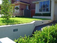 front brick retaining finished
