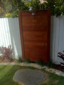 Kwila Outdoor shower