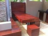 Kwila bench seat/ table & cubes