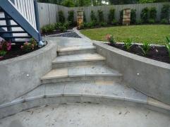 Curved Granite steps