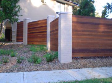 Kwila fence screening with Pillars