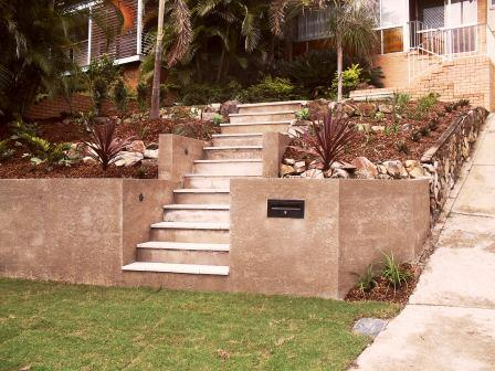 Retaining Wall with letter box