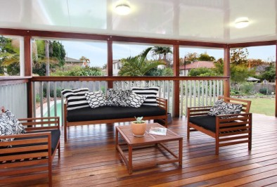 Spotted Gum decking with insulated roof