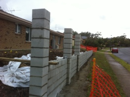 Block Fence with pillars