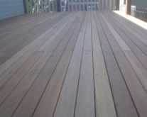 Spotted gum sanding
