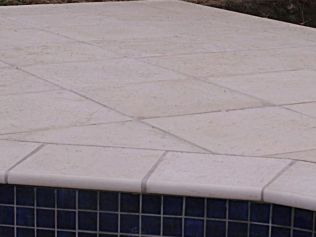 Limestone coping