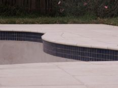 Curved waterline and Coping