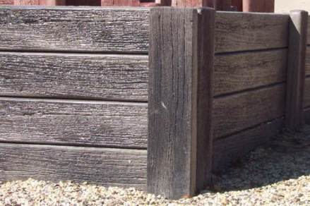 Rustic timber look concrete sleeper