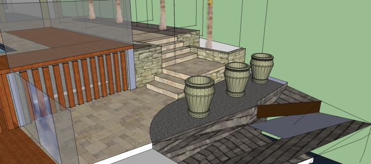 Side path and steps design
