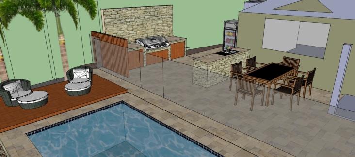 BbQ Area design