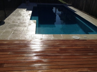 Urbanstone tiling with Kwila decking