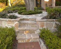 sandstone fallging walls & steps