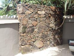Natural drystack blade wall