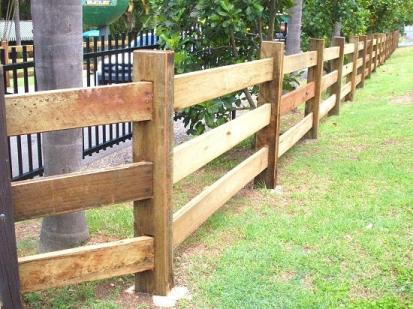 Acreage Fencing 3 beam dressed
