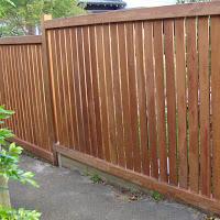 Dressed hardwood fence