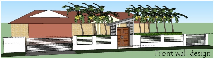Design package 1 - single idea of front wall