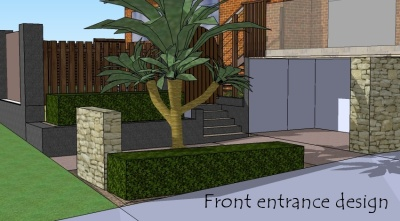 Design package 1 - Front entrance design