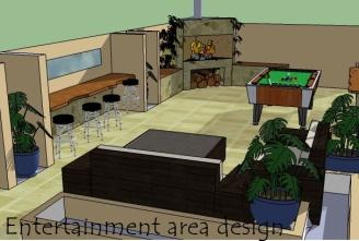 Design package 1 - Single idea of entertainment area