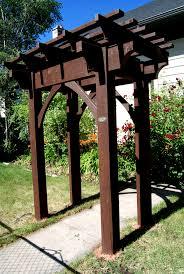 Asian style gate arbor