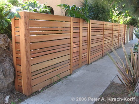 Hardwood screen fencing