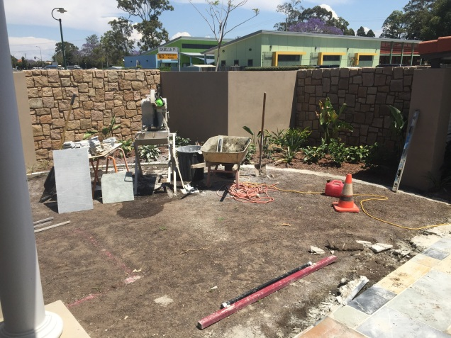 Construction of front yard