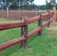 Acreage fencing 2 beam