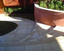 French Limestone paving