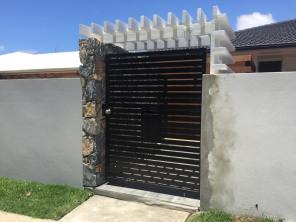 Front entrance design , Aluminium gate