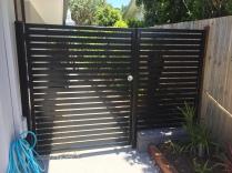 Standard black slatted gate