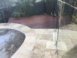 Trertine tiling meets Iron bark decking